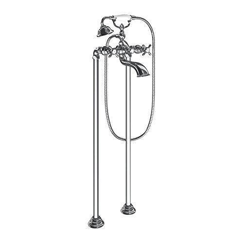 Moen KT-S22105CH Weymouth Tub Filler with Floor Mount Risers, Chrome