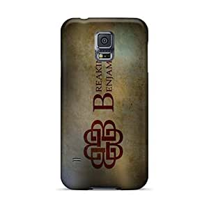 Scratch Resistant Cell-phone Hard Cover For Samsung Galaxy S5 With Provide Private Custom High-definition Breaking Benjamin Band Series AlissaDubois