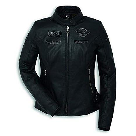 Ducati Heritage C1 Damen Lederjacke schwarz Größe 42: Amazon