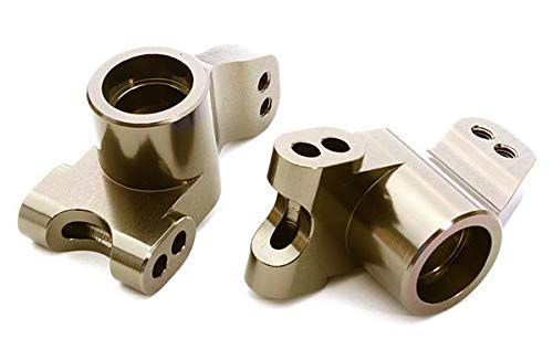 Integy RC Model Hop-ups C26742GREY Billet Machined Rear Hub Carriers for HPI 1/10 Jumpshot MT, SC & ST