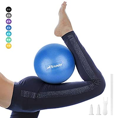 Trideer Pilates Ball, Barre Ball, Mini Exercise Ball, 9 Inch Small Bender Ball, Pilates, Yoga, Core Training and Physical Therapy, Improves Balance (Home & Gym & Office)