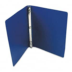 ACCO AccoHide Round Ring Binder, 8.5 x 11 Inches, 1 Inch Capacity, Semi-Rigid Cover, Dark Royal Blue (A7039712A)