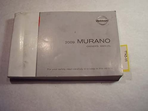2009 nissan murano owners manual nissan amazon com books rh amazon com nissan murano owners manual 2013 nissan murano owners manual 2018