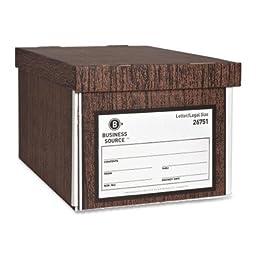 Business Source File Storage Box - 12 per carton