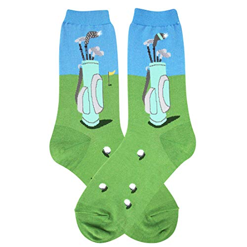 Foot Traffic, Women's Sports-Themed Socks, Golfbag (Shoe Sizes 4-10)
