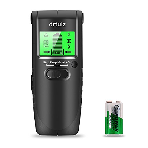 (Stud Finder - Multi Function Scanning Wall Sensor With Digital LCD Display & Sound Warning For Wood Stud/AC Wire/Metal)
