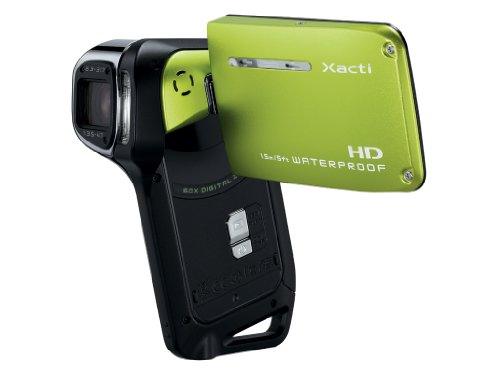 Sanyo VPC-CA9 Xacti 9 Megapixel Water Proof HD Digital Video Camcorder, Green