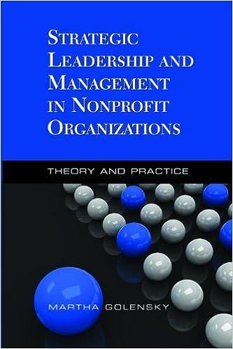 Book Strategic Leadership and Management in Nonprofit Organizations [2010] Martha Golensky