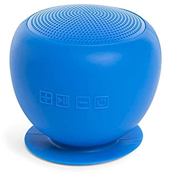 BLUE Bathroom Shower Music Splitzer Speaker, Portable Waterproof Wireless Bluetooth  Speaker Android IOS (BLUE