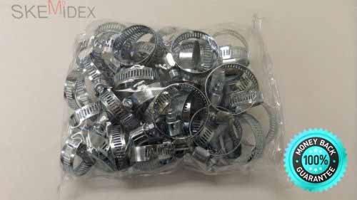 SKEMiDEX---50pc Steel Metal Hose Clamps Radiator Band 3/4