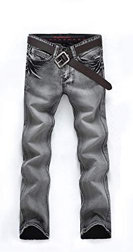 Pantaloni Elastici Colour Especial Fit Dritti Alti Estilo Jeans Comodi Slim Ssig Morbidi Uomo Fashion Cotton pwqwB0P6
