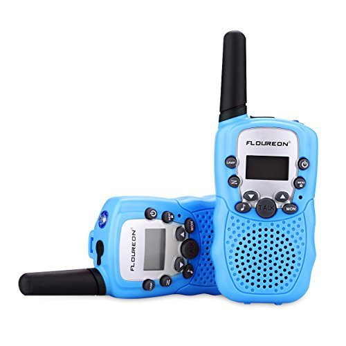 floureon Walkies Talkies for Kid Toy Walkies Talky 22 Channel Two Way Radios Long Range (Blue x 4) by floureon (Image #2)