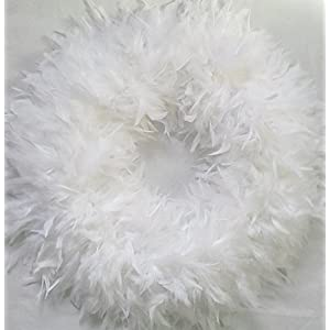 Christmas Wreaths - Beautiful & Fluffy White Feather Wreaths - in Stock & Ready to Ship ! 107
