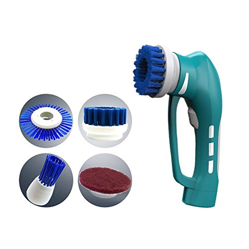Cleaning Brush, Webat Power Scrubber Cleaning Kit Portable Cordless Power Scrubber Brush for Kitchen,Bathroom,etc Rechargeable