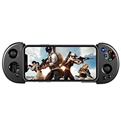 Features: ☆ Special designedfor Android/IOS professional game playing. ☆ Wireless bluetooth4.0 connecting. ☆ Ergonomic designbrings comfortable hand feeling. ☆ Analog joystick 360°operation without dead angle. ☆ Turbo non-linear shock motor. ...