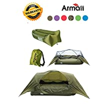 """Armati Suspended Tent Single Person Backpacking Tent, Inflatable lounger, Air Sofa Bed ,Hammock L79""""* W31.5""""* H47"""" with Carry Bag, Securing Stake and Bottle Opener"""