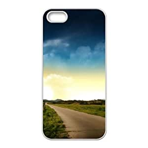 For Ipod Touch 5 Phone Case Cover Country road Hard Shell Back White For Ipod Touch 5 Phone Case Cover 340658