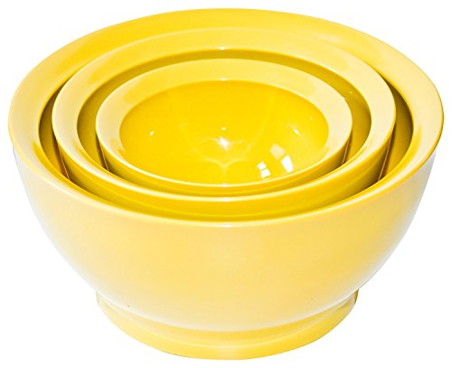 - Calibowl Big Sur Stack Set of 3 Plastic Mixing Bowls, Yellow