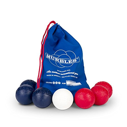 Standard 7 ball Lt Red & Dk Blue totable small family & friends set. by Murble Game