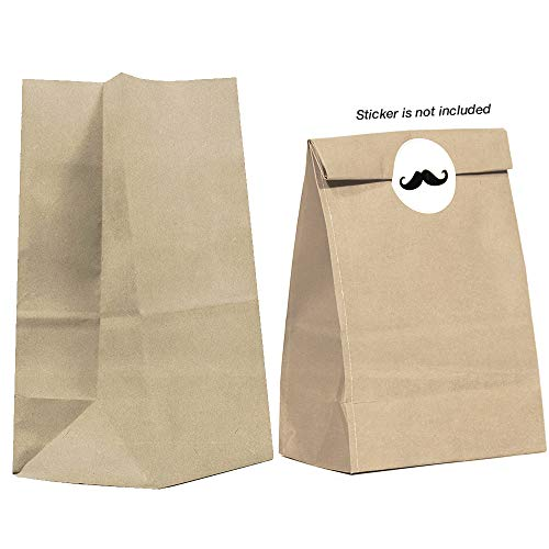 40k Gallon (40CT Biodegradable, Premium Quality Paper (Thicker), Paper Bag, Kraft Paper Sack, Goody Bags, Treat Sacks, Perfect for Party Filled with Small Favors (Small, Brown))