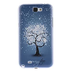 Snow Tree Pattern Hard Case for Samsung Galaxy Note 2 N7100
