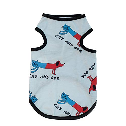 (Colmkley Cute Puppy Dog Cat Pet Cotton Cool Vest Shirts Soft and)