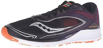 Saucony Men's Kinvara 7 Running Shoe, Black/Purple/Orange, 8 M US