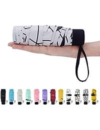 Mini Compact Sun&Rain Travel Umbrella - Lightweight Portable Umbrella with 95% UV Protection