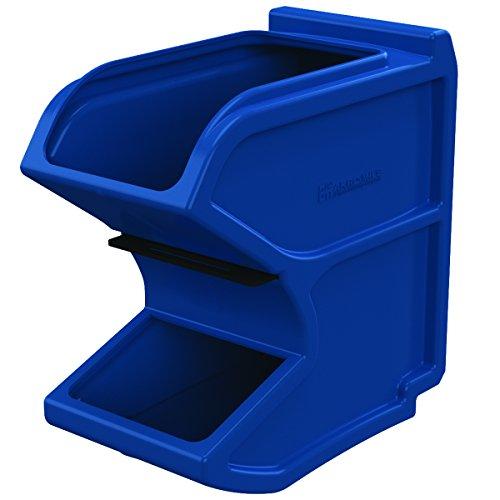AKRO-MILS 31620BLUE Plastic Gravity Hopper Bin, 16 x 8-1/...