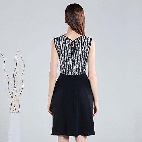 La nueva ropa de verano Sypdress Tungler Plaid vestido sin mangas una delgada línea A falda XL