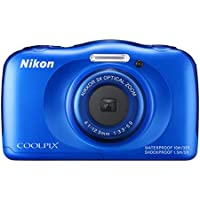 Nikon COOLPIX S33 Waterproof Digital Camera (Blue) (Discontinued by Manufacturer)