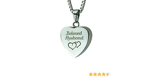 Ash Cremation jewelry with personalized Engraving Love to Treasure Crystal Heart Urn Pendant