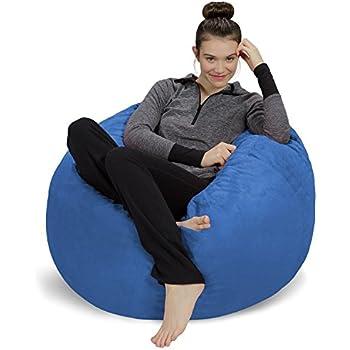 Amazon Com Big Joe 645614 Dorm Bean Bag Chair Sapphire