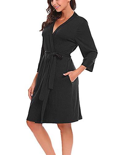 Bluetime Women Robe Soft Kimono Robes Bathrobe Sleepwear Loungewear Short