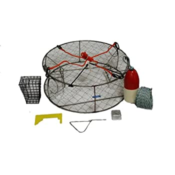 Image of Bait Traps Ladner Traps Stainless Steel Ultimate Crab Trap Kit, 30-Inch