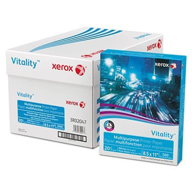 Vitality Ream Xerox Business Copy/Fax/Laser Inkjet Printer Paper