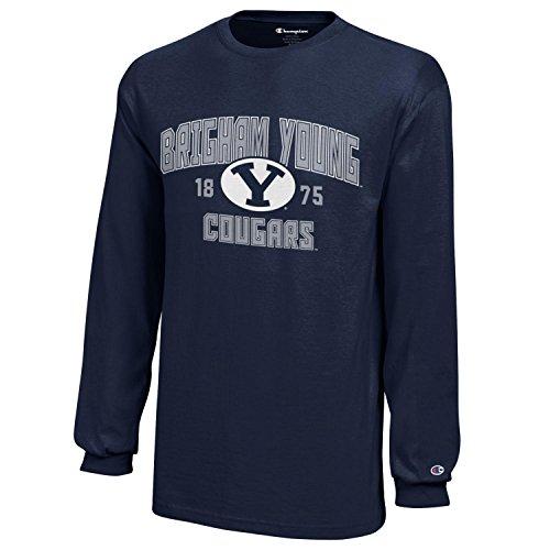 NCAA Champion Boy's Long Sleeve Jersey T-Shirt BYU Cougars Large