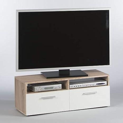 Stella Trading Rana TV LOWBOARD – Roble Sonoma y Blanco: Amazon.es: Hogar