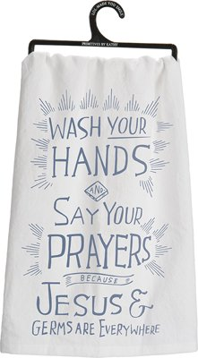Set of 3 - Dish Towel - ''Jesus and Germs''