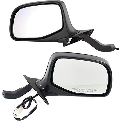 Power Mirror compatible with Ford F-Series 92-97 Right and Left Side Manual Folding Non-Heated Paddle Style Chrome