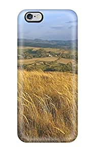 High Grade Stony L. Hicks Flexible Tpu Case For Iphone 6 Plus - Wheat Field Village Amp Digital