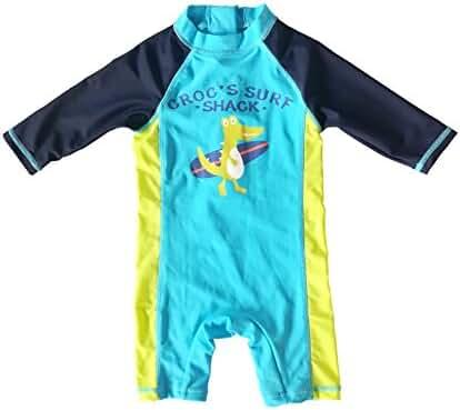Bonverano(TM) Kids UPF 50+ Sun Protection S/S One Piece Zip Sun Suit