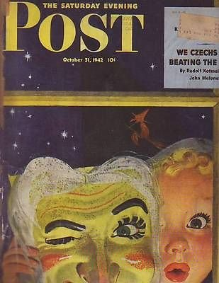 1942 Saturday Evening Post October 31-Halloween; Las Vegas;Truck (Saturday Evening Post Halloween)