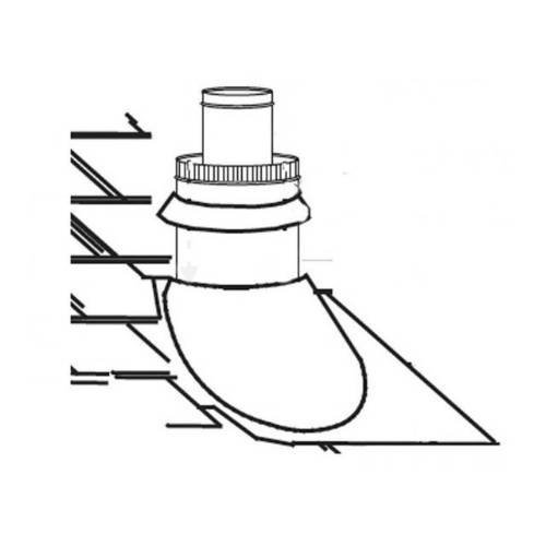 Direct Vent Fireplace Roof Terminals Type: Roof Terminal Kit / 8/12 to 12/12 Pitch