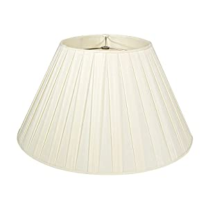 "Cream Box Pleat Lampshade - 18""Buy one, get one free!"