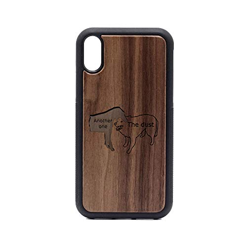 Walnut Bites - Another ONE Bites The DUST - iPhone XR Case - Walnut Premium Slim & Lightweight Traveler Wooden Protective Phone Case - Unique, Stylish & Eco-Friendly - Designed for iPhone XR