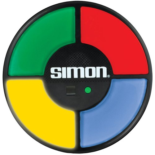 Basic Fun Simon Electronic Game with Digital Screen and Built-In Counter, 9-Inch Diameter