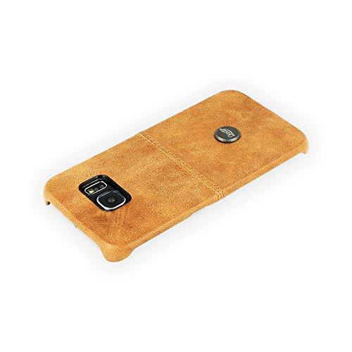 QIOTTI QX-C-0060-01-SGS6E Snapcase Q.Snap Smart Premium Echtleder für Samsung Galaxy S6 Edge braun