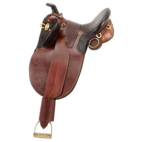 Australian Outrider Stock Poley Saddle with Horn Medium 17″ Brown