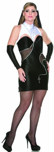 Sexy Priest Costumes (Delicious OMG! Costume, Black/White, Large)